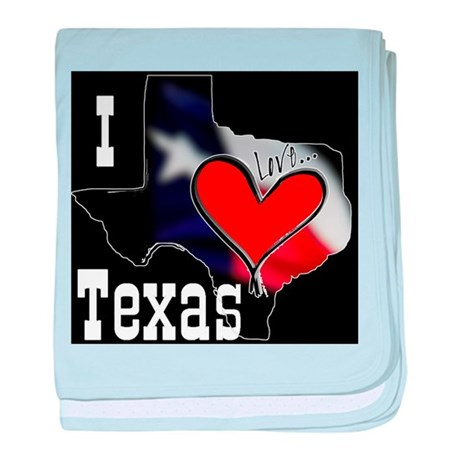 I Love Texas baby blanket