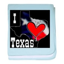 I Love Texas baby blanket