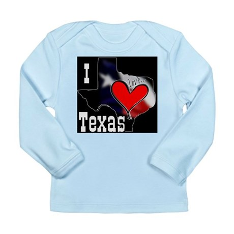 I Love Texas Long Sleeve Infant T-Shirt