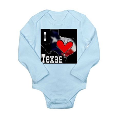 I Love Texas Long Sleeve Infant Bodysuit