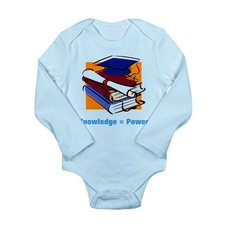 Knowledge is Power Long Sleeve Infant Bodysuit