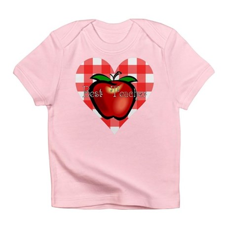 Best Teacher Checkered Heart Infant T-Shirt