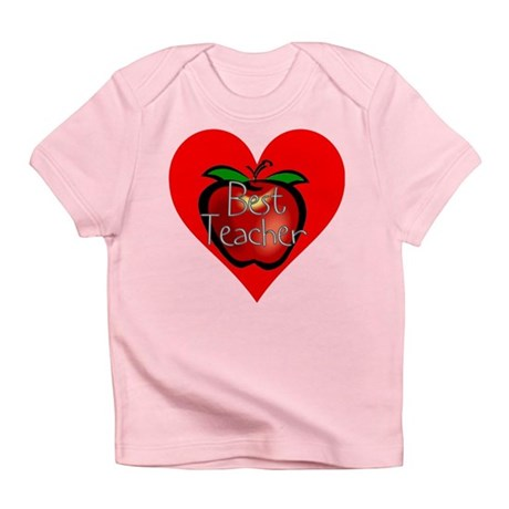 Best Teacher Apple Heart Infant T-Shirt