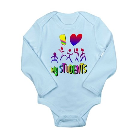 I Love My Students Long Sleeve Infant Bodysuit