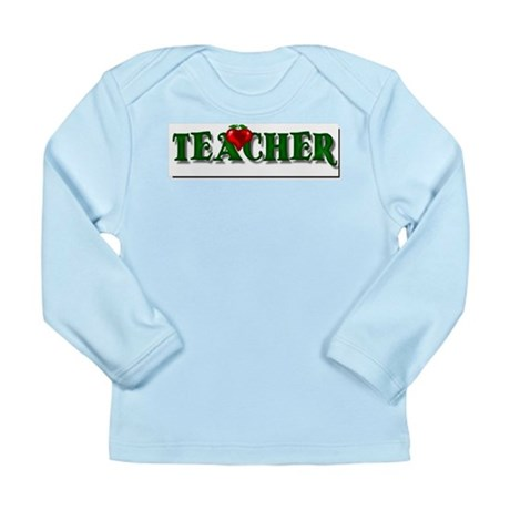 Teacher Apple Long Sleeve Infant T-Shirt