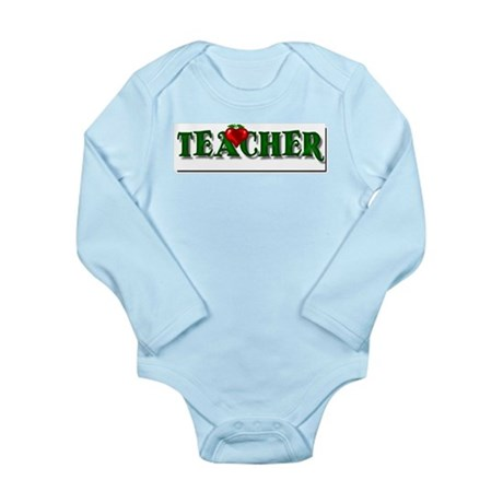Teacher Apple Long Sleeve Infant Bodysuit