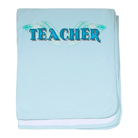 Angel Wings Teacher baby blanket