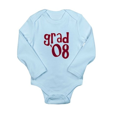 Grad 08 - Brick Red - Long Sleeve Infant Bodysuit
