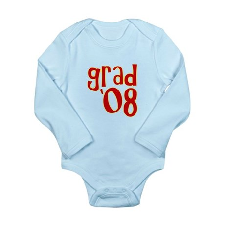 Grad 2008 - Red - Long Sleeve Infant Bodysuit