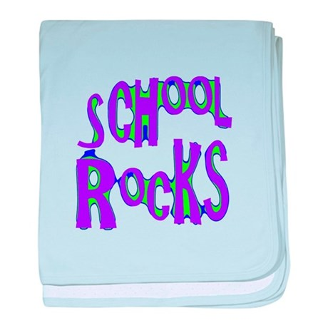 School Rocks - Purple - baby blanket