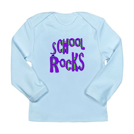 School Rocks - Purple - Long Sleeve Infant T-Shirt