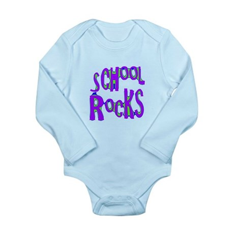 School Rocks - Purple - Long Sleeve Infant Bodysui