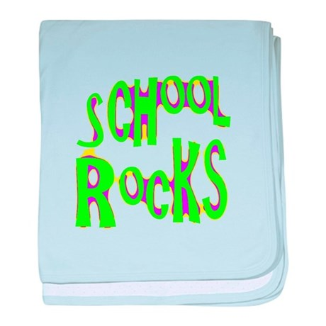 School Rocks - Lime baby blanket