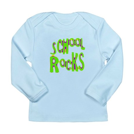 School Rocks - Lime Long Sleeve Infant T-Shirt