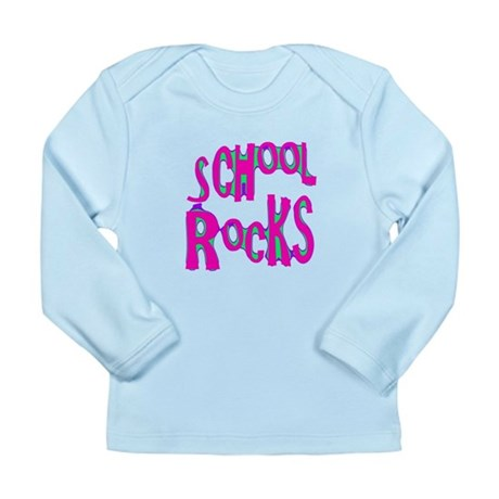 School Rocks - Hot Pink Long Sleeve Infant T-Shirt