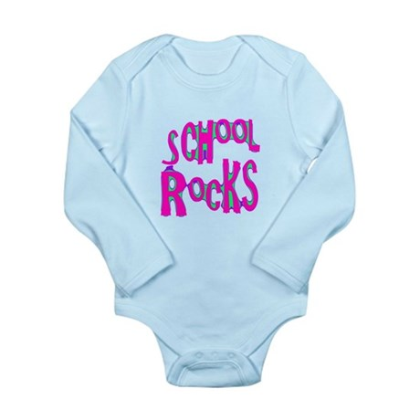 School Rocks - Hot Pink Long Sleeve Infant Bodysui
