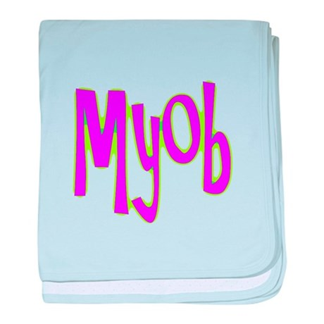 MYOB baby blanket