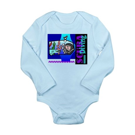 Scuba Diving Long Sleeve Infant Bodysuit