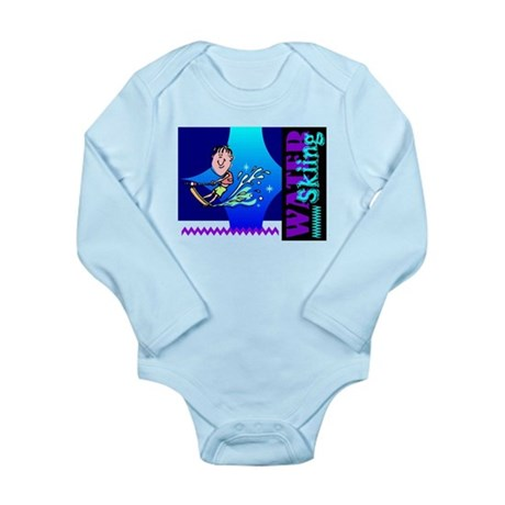 Water Skiing Long Sleeve Infant Bodysuit