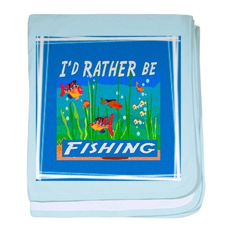 Rather be Fishing baby blanket