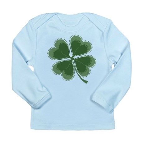 Lucky Four Leaf Clover Long Sleeve Infant T-Shirt