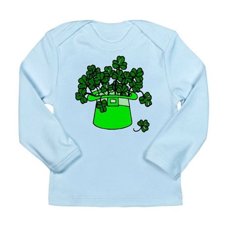 Leprechaun Hat Long Sleeve Infant T-Shirt