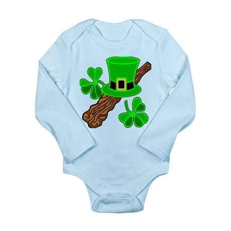 Leprechaun Hat Long Sleeve Infant Bodysuit