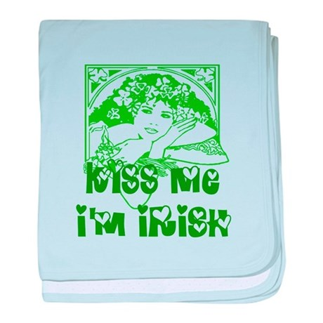 Kiss Me Irish Girl baby blanket