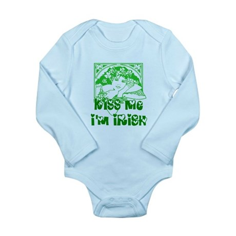 Kiss Me Irish Girl Long Sleeve Infant Bodysuit