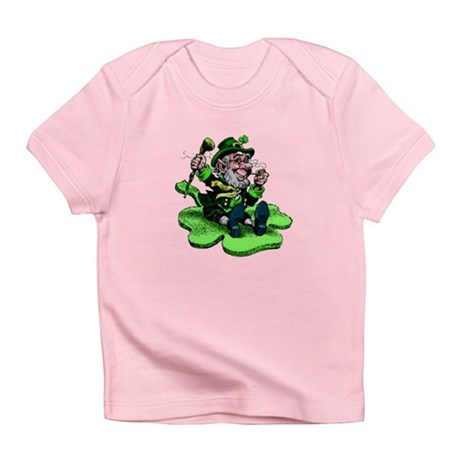 Leprechaun on Shamrock Infant T-Shirt
