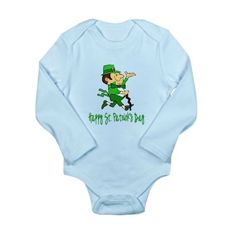 Leprechaun Dandy Long Sleeve Infant Bodysuit