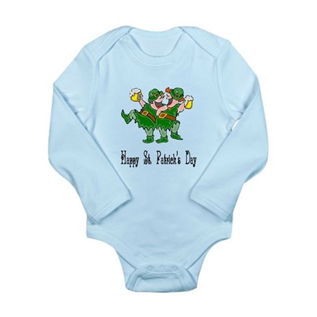 Leprechaun Dance Long Sleeve Infant Bodysuit