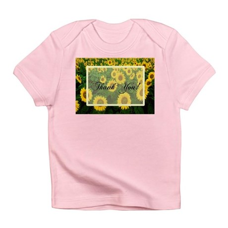 Sunflower Field Thank You Infant T-Shirt