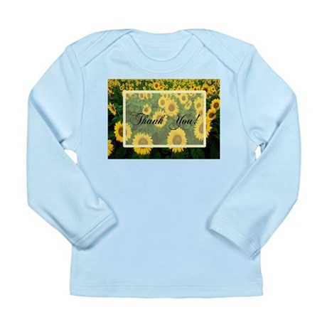 Sunflower Field Thank You Long Sleeve Infant T-Shi