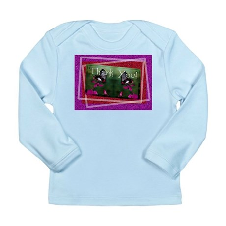 Thank You Butterflies Long Sleeve Infant T-Shirt