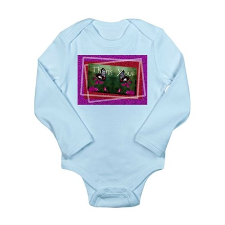 Thank You Butterflies Long Sleeve Infant Bodysuit