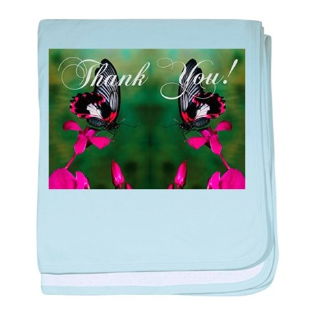 Thank You Butterflies baby blanket
