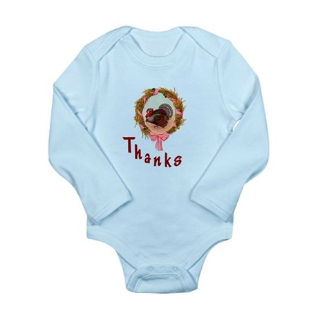 Thanks Turkey Long Sleeve Infant Bodysuit