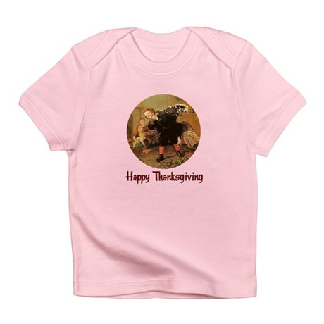 Boy and Thanksgiving Turkey Infant T-Shirt