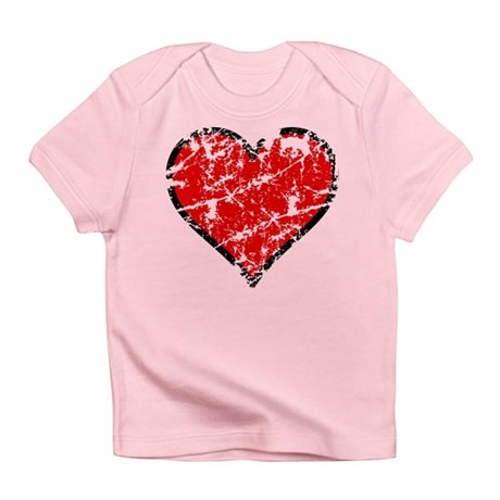 Red Grunge Heart Infant T-Shirt