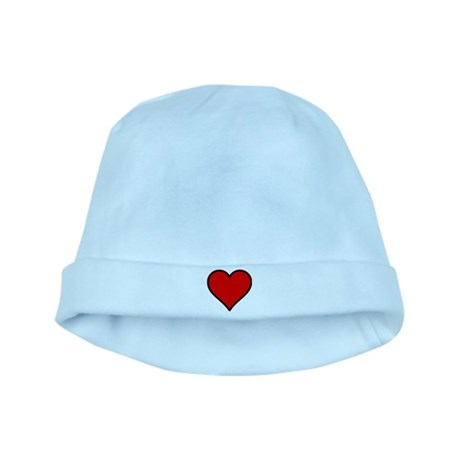 Simple Heart baby hat