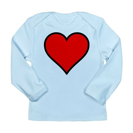 Simple Heart Long Sleeve Infant T-Shirt