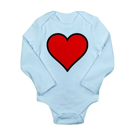 Simple Heart Long Sleeve Infant Bodysuit