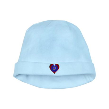 Kaleidoscope Heart baby hat