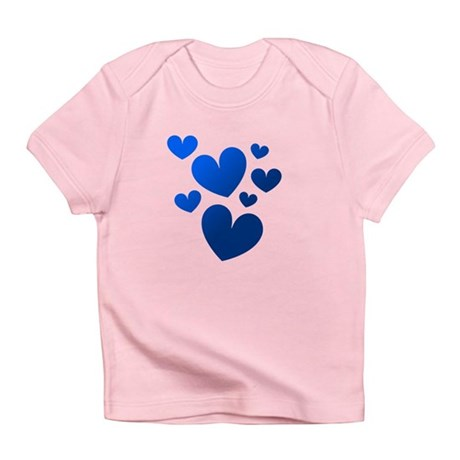 Blue Valentine Hearts Infant T-Shirt