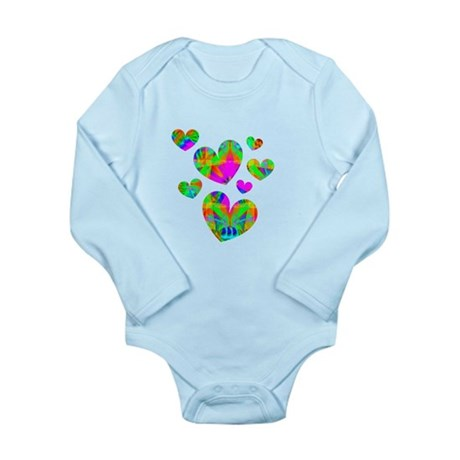 Kaleidoscope Hearts Long Sleeve Infant Bodysuit