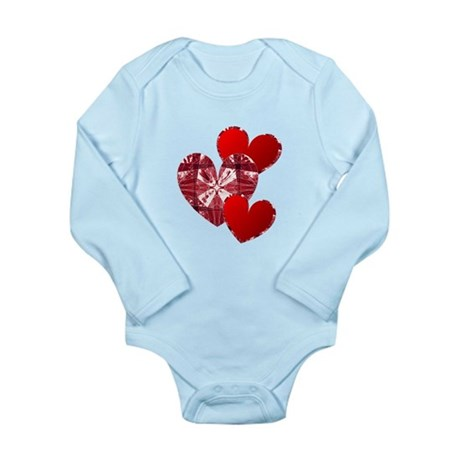 Country Hearts Long Sleeve Infant Bodysuit
