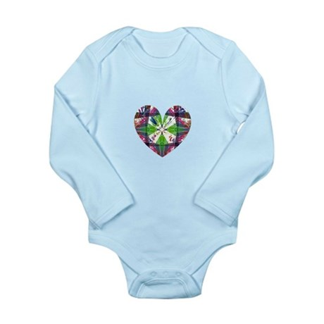 Kaleidoscope Heart Long Sleeve Infant Bodysuit