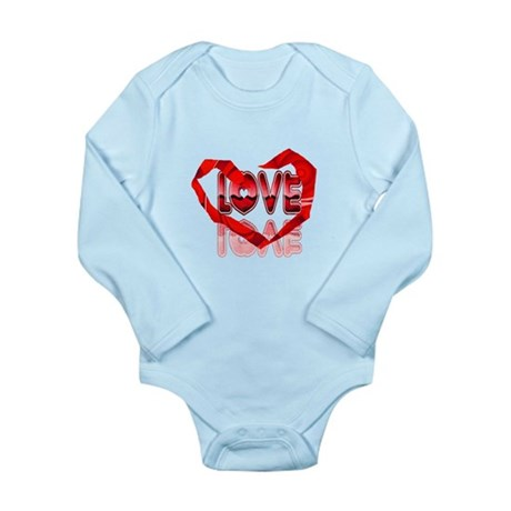 Abstract Love Heart Long Sleeve Infant Bodysuit