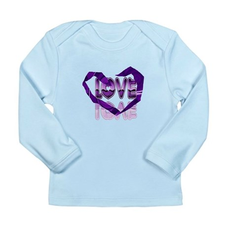 Abstract Love Heart Long Sleeve Infant T-Shirt